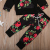 Image of Baby Girl Floral Top and Pant Set