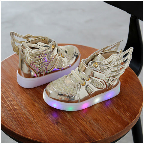 Toddlers LED Flashing Wing Sneakers - [3 Variants]