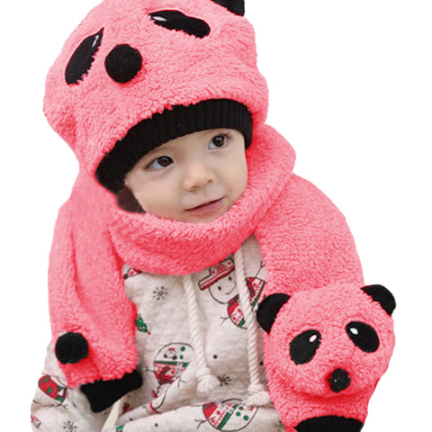 Panda Knitted Warm Scarf& Hat - [5 Variants]