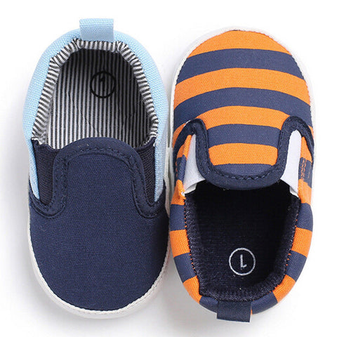 Toddler Infant Baby Shoes Orange and Blue