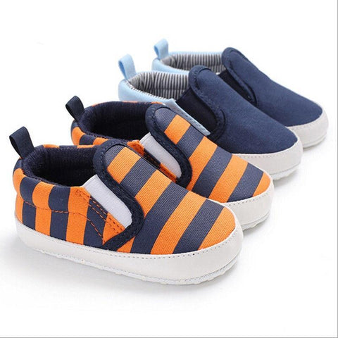 Image of Toddler Infant Baby Shoes Orange and Blue