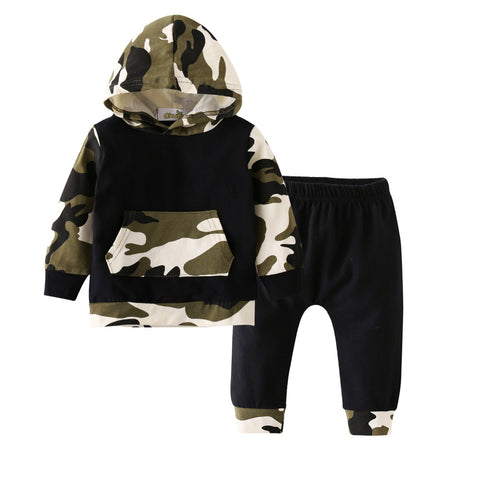 Image of Kid's camouflage Long Pants hoodie