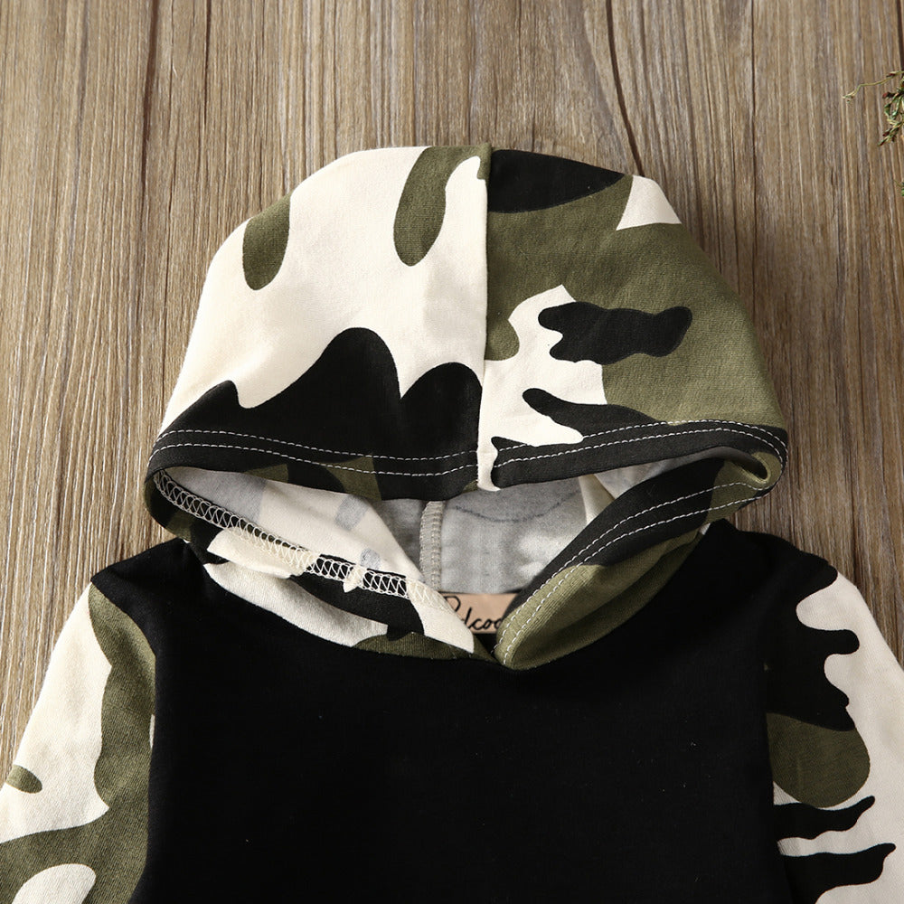 Toddlers Boy Camouflage Outfits Set