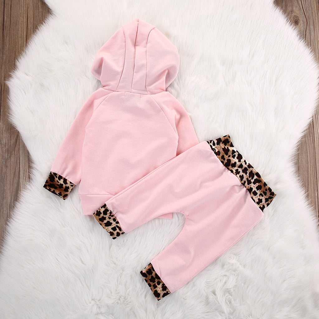 Toddler Leopard Hooded Outfit