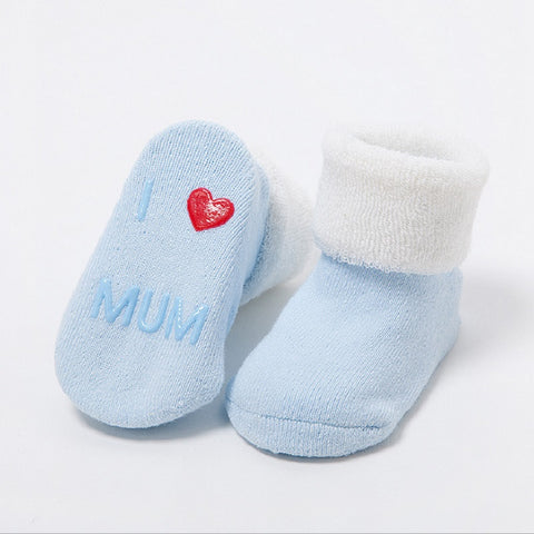 Cute Newborn Baby Anti-slip Socks - [3 PCS/SET ]