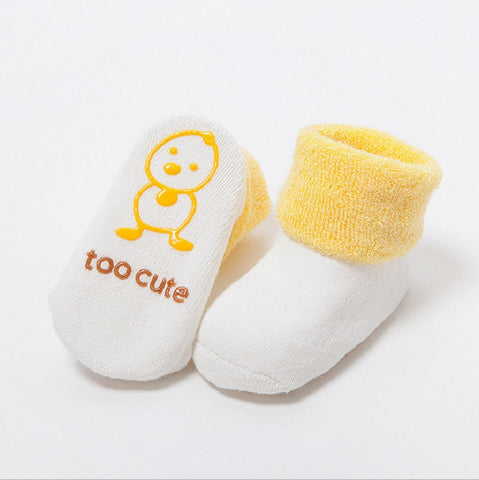 Image of Cute Newborn Baby Anti-slip Socks - [3 PCS/SET ]