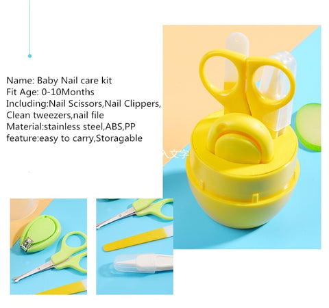 Image of 4 Pieces Baby Nail Care Set