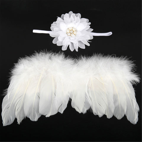 Image of Baby girl's Angel Wings and Headband