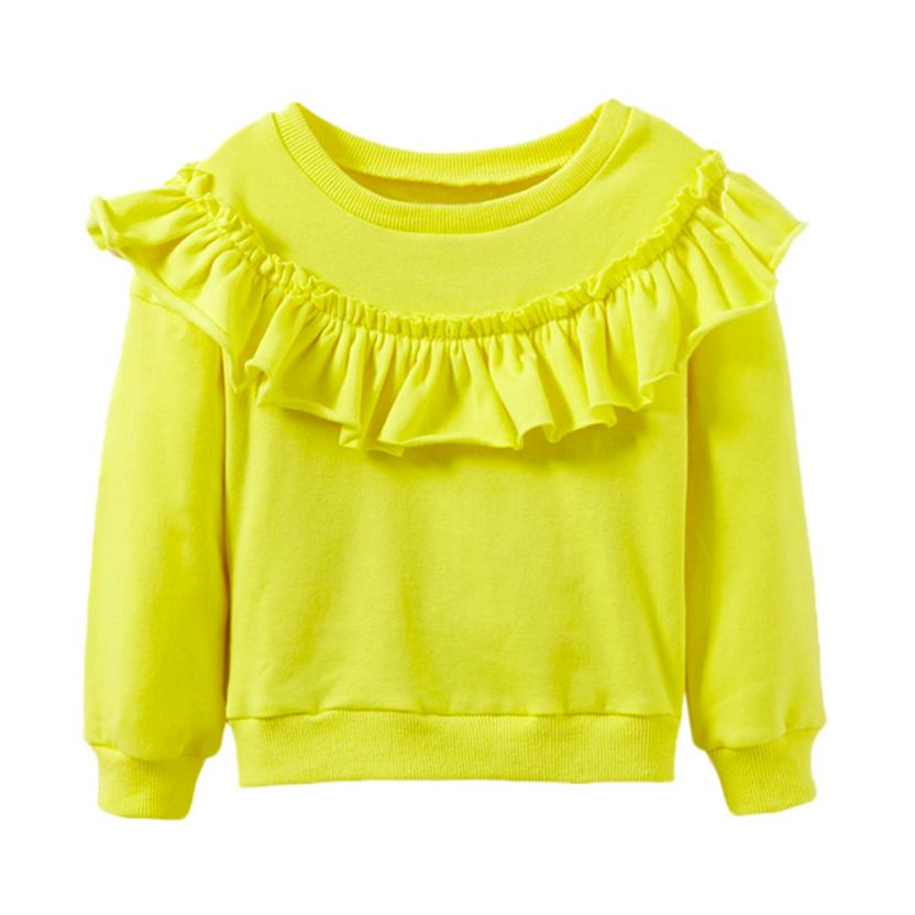 Baby Long Sleeve Solid Soft Toddler Shirt