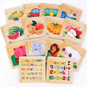 Early Learning Jigsaw Wooden Puzzle - [14 Variants]