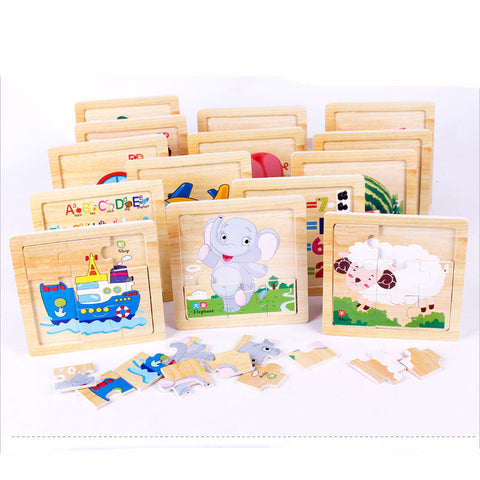 Image of Early Learning Jigsaw Wooden Puzzle - [14 Variants]
