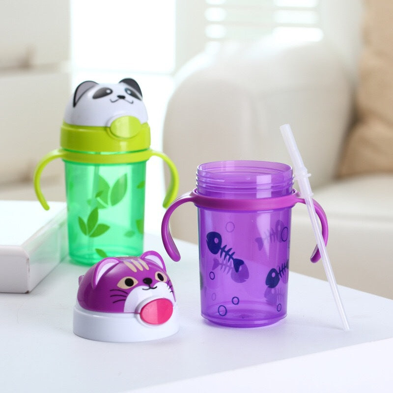 Baby Water Bottles with Straw and Strap - [8 Variants]