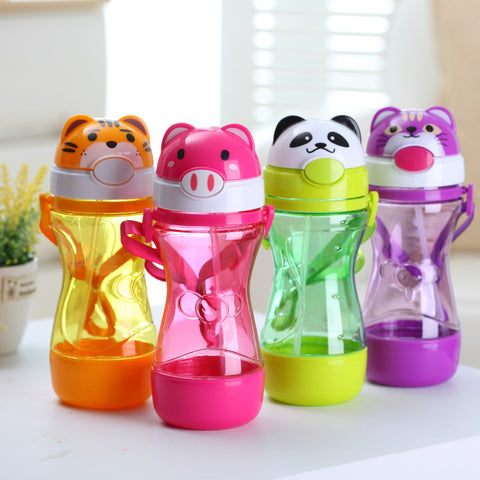 Image of Baby Water Bottles with Straw and Strap - [8 Variants]