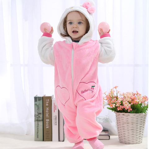 Cute Animal Winter Pyjamas For Toddlers & Babies - [8 Variants]