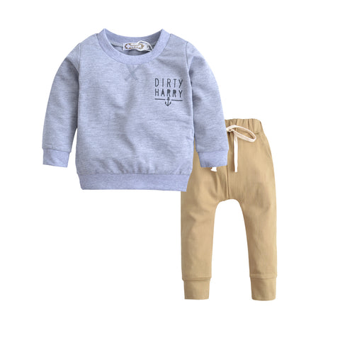 Image of Baby Boys Sweater and Pants outfit Set