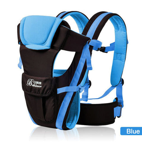 Image of Breathable Baby Carrier 4 in 1 Infant Comfortable Sling Backpack Pouch