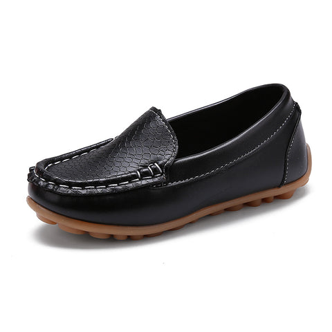 Image of New Kid's Fashion leather Moccasin Shoes - [6 Variants]