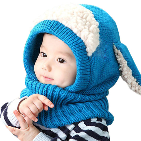 Image of Baby Winter Rabbit Scarf Hat