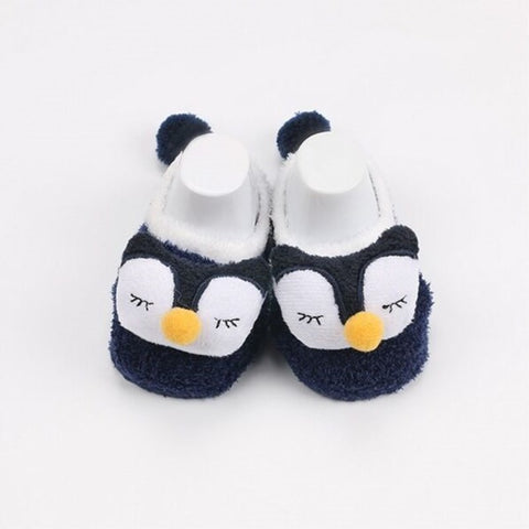 Coral fleece Baby Animal Socks