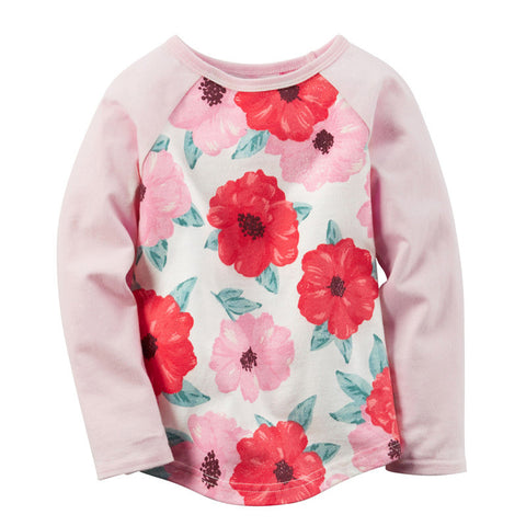 Lovely Long Sleeve Floral T-Shirt