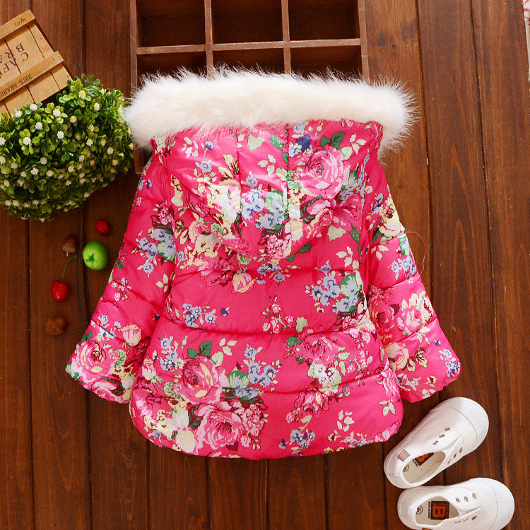 Winter Christmas baby girl Jacket