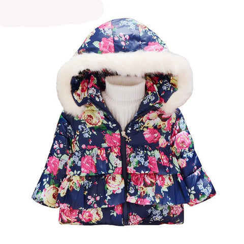 Image of Winter Christmas baby girl Jacket