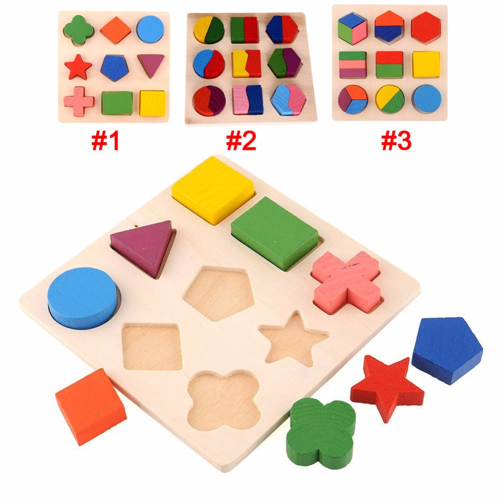 Wooden Educational Puzzle Toys - [3 Variants]