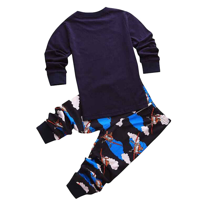 Cute Vehicle Print Sleepwear Pajama Set - [2 Variants]