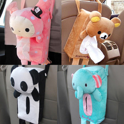 Image of Cute Car Hanging Tissue Box For Kids - [4 Variants]