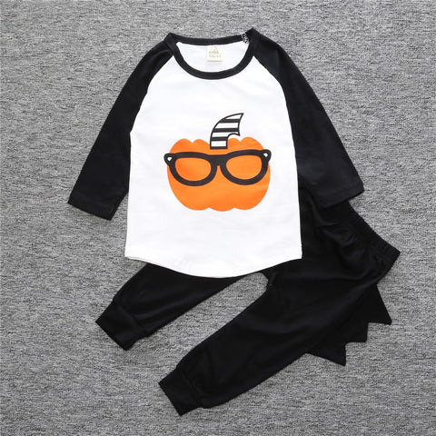 Image of baby boy long-sleeved white t-shirt + pants set