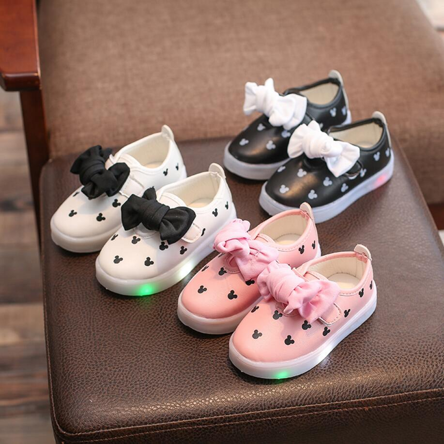 Toddler Girls LED Light Sneakers - [3 Variants]