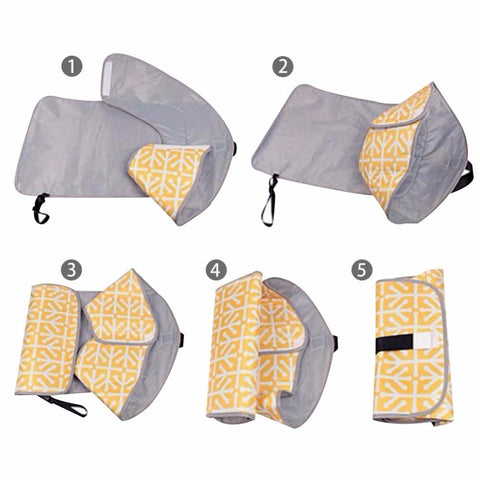 Image of Clean Hands Changing Pad Portable Baby 3in1 Cover Mat Folding Diaper Bag Kit NEW Covers