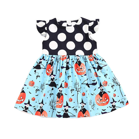 Baby Girl Pumpkin Round Neck Dress