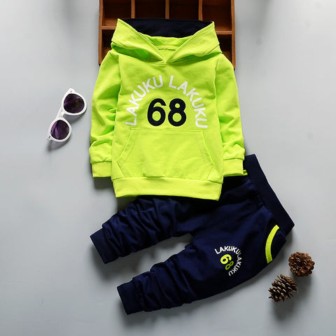 Image of Hooded Fashion Tracksuit Clothing Set - [3 Variants]