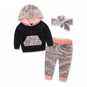 Baby Girl Winter Hooded Outwear Set