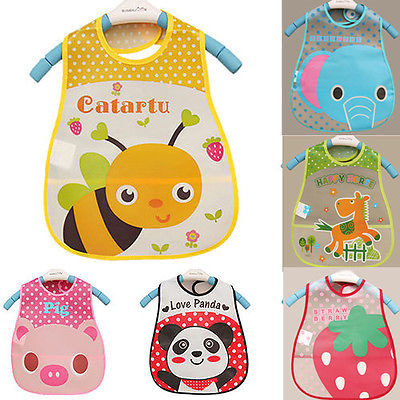 Baby Waterproof bibs - [8 Variants]