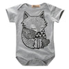 Image of Fox Printed Baby Sunsuit Outfit