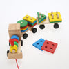Image of Wooden Train Stacking Puzzle