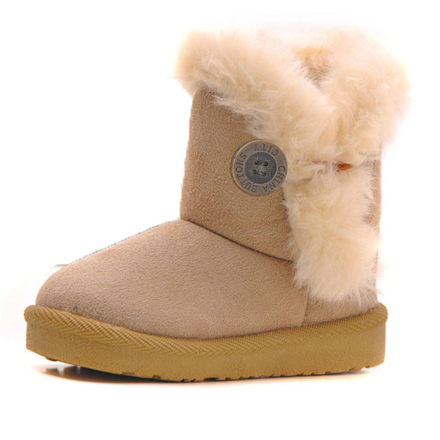 khaki toddlers snow boots