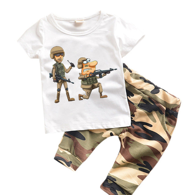 Kids' Army Clothing Set - [2 Variants]