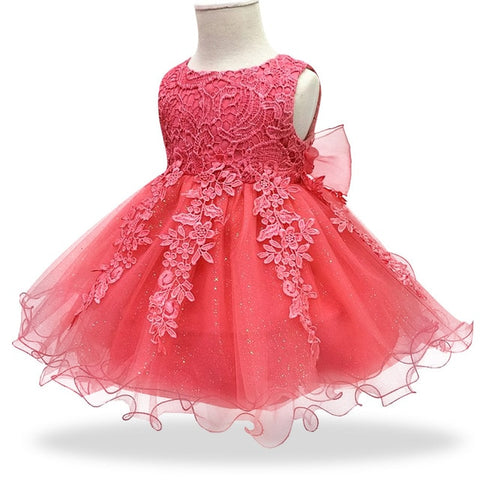 Image of Baby Girl Flower Lace Princess Dress