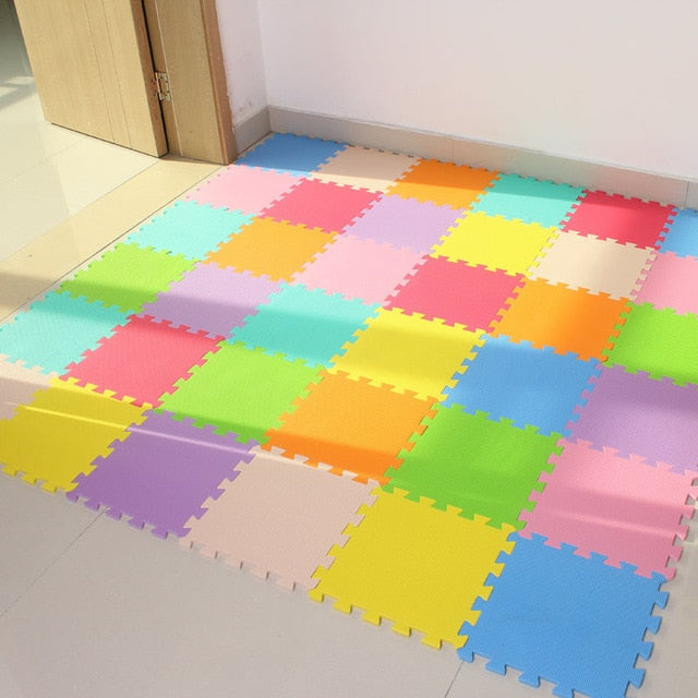 Baby Foam Play Interlocking Exercise Tiles Floor,Each 32X32cm,18 or 24pc in a bag