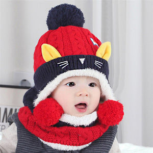 Cool Knitted Hat and Scarf Set - [5 Variants]