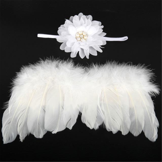 Baby girl's Angel Wings and Headband