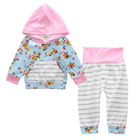 Image of Baby Girls Hooded Tops Pants