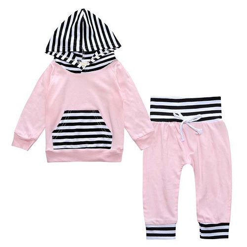 Baby Girls Hooded Tops Pants