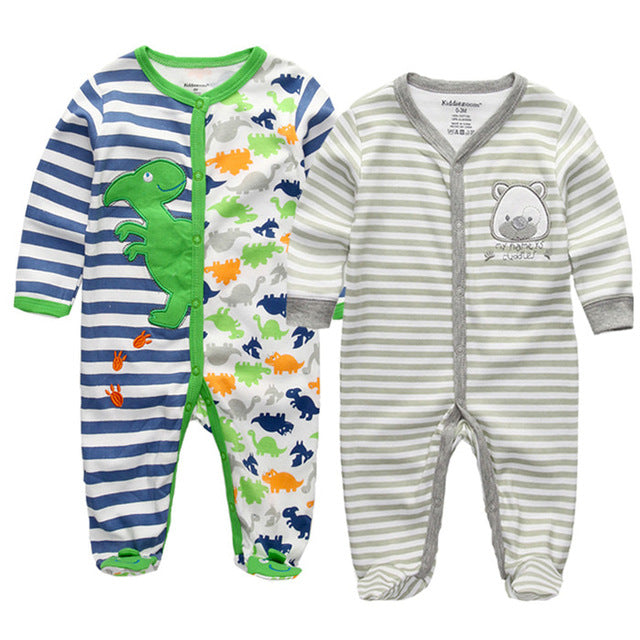2 PCS Baby O-neck Long Sleeve Pyjama - [21 Variants]