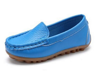 New Kid's Fashion leather Moccasin Shoes - [6 Variants]