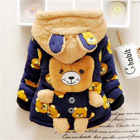 Image of Winter Boys&Girls Cartoon Bear Cotton-padded Outwear