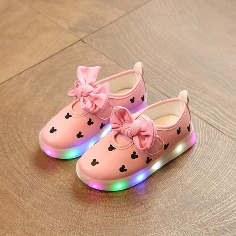 Image of Toddler Girls LED Light Sneakers - [3 Variants]